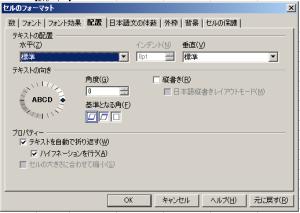OpenOffice Calcセルの大きさに合わせたテキストの折り返し