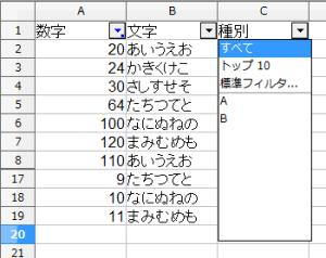 OpenOfficeCalcオートフィルタ (4)