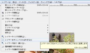 GIMPで位置やサイズの変更06